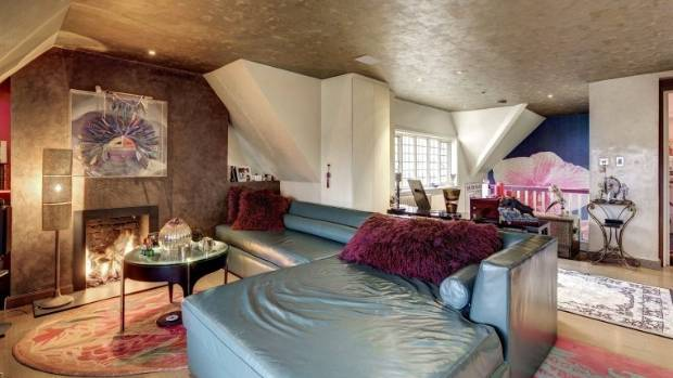 The spacious living room is a rare London treat.
