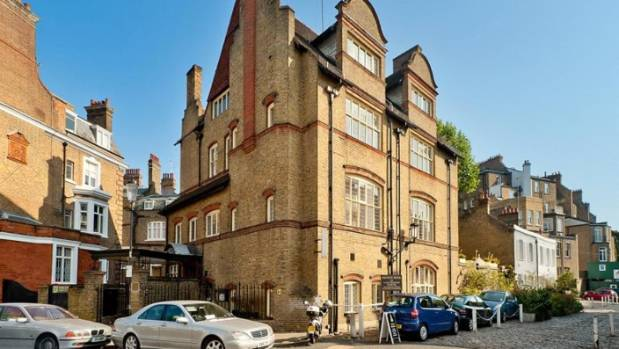 It's conservative exterior fits right in in posh Knightsbridge, near the famous Harrods department store.