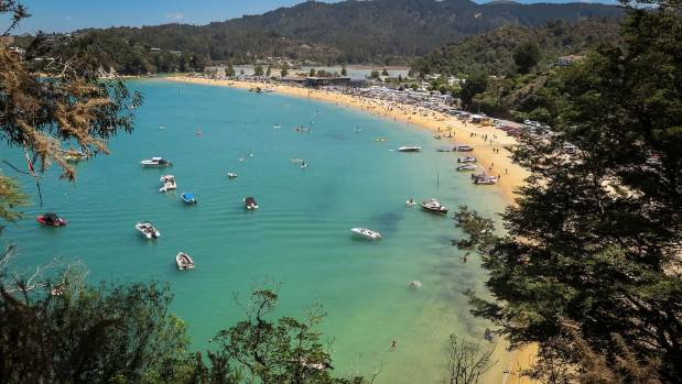 Kaiteriteri near Nelson is a popular holiday location.