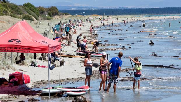Nelson's Tahunanui Beach is a hit with holiday makers.