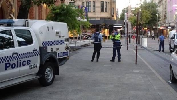 Police cordoned off the  the crime scene in Perth.