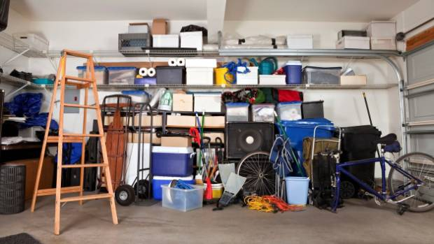 Garages are often used to store anything but the car.