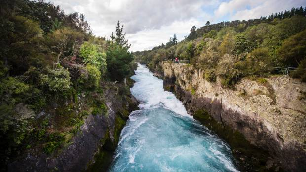 Huka Falls on the Waikato River, near Taupo.