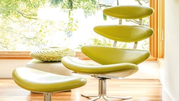 This modern chartreuse recliner makes a style statement.