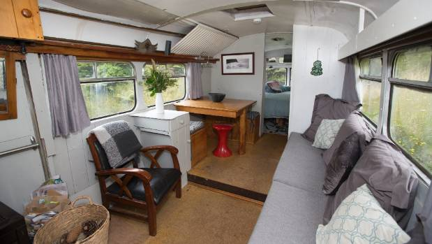 There is plenty of room to relax and read books or listen to music in the house bus.