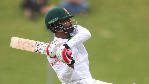 Opener Tamim Iqbal rode his luck in a rapid 56 off 50 balls before Trent Boult trapped him lbw.