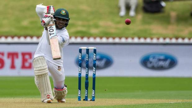 One of test cricket's shortest batsmen, Mominul Haque stands tall against the Black Caps