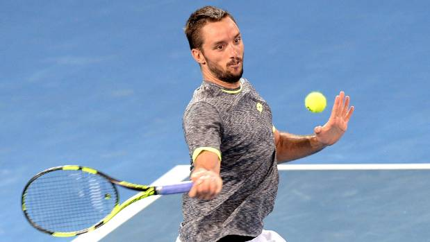 Viktor Troicki of Serbia is into the semifinals as he seeks a third straight tournament victory at the Sydney International.