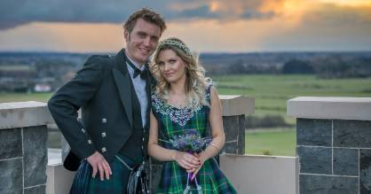 Miranda and Jono opted for a traditional Scottish wedding to honour their Scottish heritage.