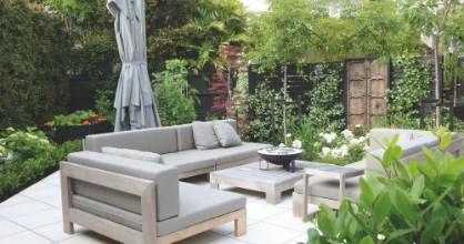 The tiny terrace garden design trend reflects the small smalls in which people live - but multi-level gardens allow for ...