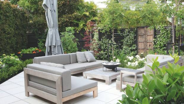 the tiny terrace garden design trend reflects the small smalls in which people live but
