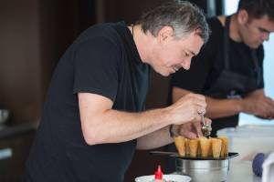 23112015 News Photo: Peter Meecham/ Fairfax NZ Simon Wright from The French Cafe restaurant  makes lunch at the ...