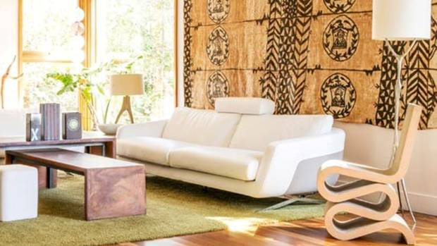 living room stuff. Jody Brettkelly s mother picked up the Tongan tapa cloth from an Auckland  market My favourite space A Kiwi California living room Stuff co nz