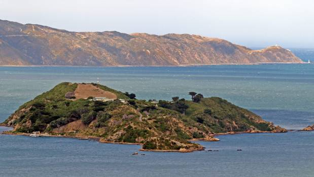 March 2013: A dry Matiu/Somes Island, seen from the Korokoro hills.