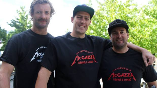 Kelly McGarry's friends and McGazza foundation members Blair Christmas, Emmerson Wilken and Fraser Gordon.
