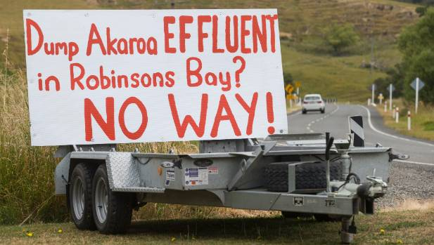 Roadside protest: Anger grew quickly when Robinsons Bay residents learned they were the new possible location.