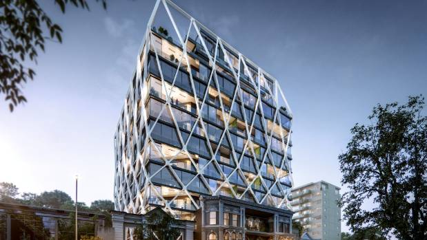The building, designed by Jasmax, is set to become one of Auckland's landmark residential destinations.