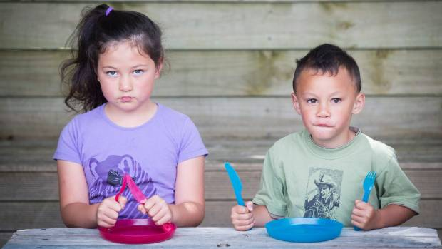 Vanessa Wilson's children, six-year-old Stevie-Lee Clarke and her four-year-old brother Beau Clarke, had empty plates on ...