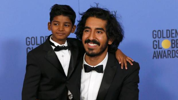 Dev Patel was joined by fellow Lion actor Sunny Pawar at the recent Golden Globes ceremony.