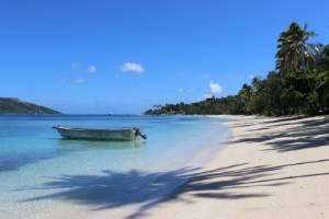 Blue Lagoon's private island, Nanuya Lailai, in Fiji.