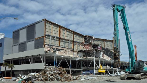 A section of the Queensgate Mall is being demolished but four engineers reports have found no problems with the rest of ...