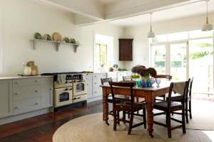 Harriet Di Maio says she wanted the kitchen in their Cambridge home to be large enough for the kids to dance in.