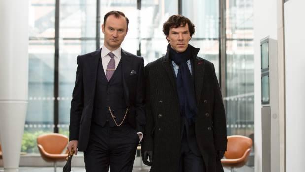 Sherlock creator Mark Gattis (left) as Sherlock's brother Mycroft.