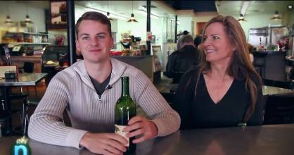 American mother-son duo - Mitch Strahan and Laura Bartlett - have invented the Wine Condom, which they will start ...