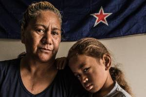 Ruby Frisken with her grandson Tukairangi Komene-Williams, 5 who had to have 4 teeth removed because of bad tooth decay.