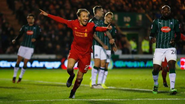 Rare Lucas Leiva Goal Edges Liverpool Past Plymouth In Fa