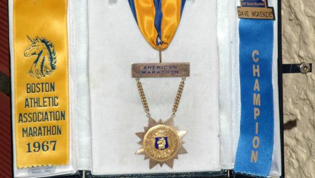 Dave McKenzie's Boston Marathon medal.