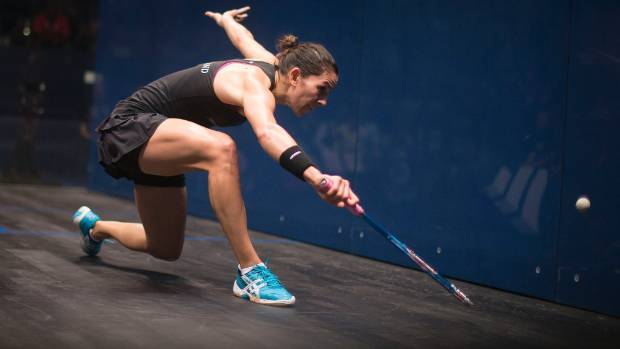 Joelle King, New Zealand's top women's squash player, is ranked ninth in the world.