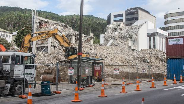 The demolition of the multi-storey office building at 61 Molesworth St is close to completion.