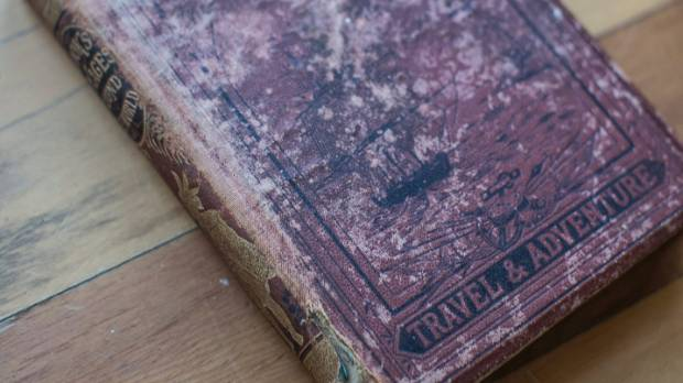 The book, dated 1879, is a collection of Captain Cook's travels, called Voyages Around The World.