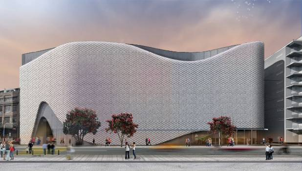 Top project: A drawing of the proposed $150m movie museum and convention centre, drawing inspiration from Wellington's ...