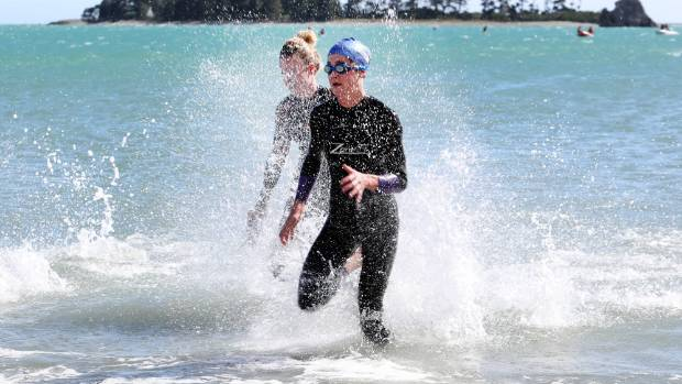 Flossie Van Dyke was the fastest female in the latest Port Nelson sea swim.