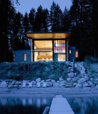 Quite possibly the coolest cabin in the world, architect Tom Kundig of Olson Kundig designed Chicken Point Cabin in ...