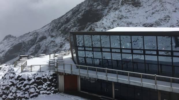 Mt Ruapehu received a surprising amount of mid-summer snowfall on Thursday night.