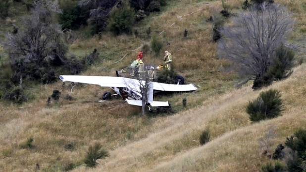 The Cessna 185F that crashed on landing.