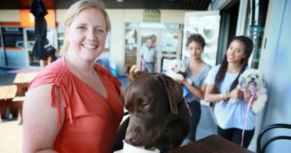 20012017 News Photo:  Mark Taylor /Fairfax NZ . The pub Keg  restaurant offers a menu for dogs at the weekend. Main ...