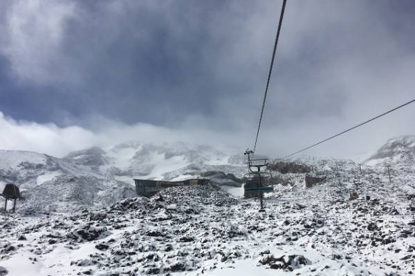 The view from the chairlifts on Mt Ruapehu.