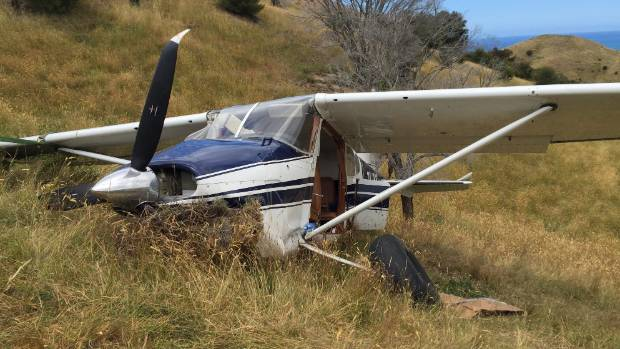 The helicopter crew were confronted with a Cessna 185 aircraft that had left the airstrip while attempting a landing, ...