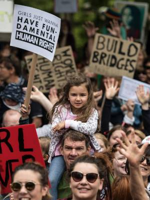 Hundreds gathered in Christchurch to march as part of a global protest movement.