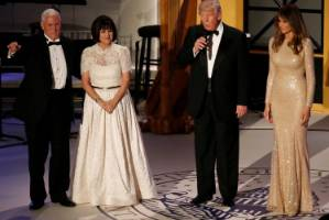 Melania (right) chose a winner for the pre-inauguration candlelight dinner.