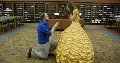 The dress was a perfect fit, and so was the ring, so it should come as no surprise she said yes.