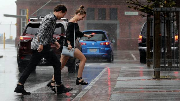 Wellington on January 22, in the middle of a week that saw three separate storm systems dump rain and gale force winds ...