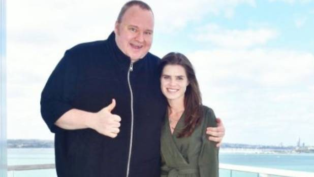 Kim Dotcom and Elizabeth Donnelly pictured on Christmas Eve.