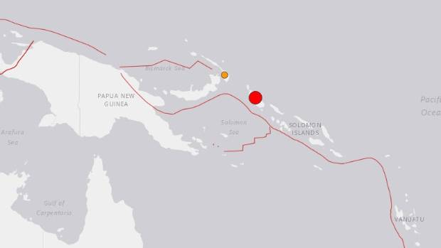 Powerful quake hits off Papua New Guinea