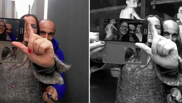 'Yolocaust' website slams memorial selfies