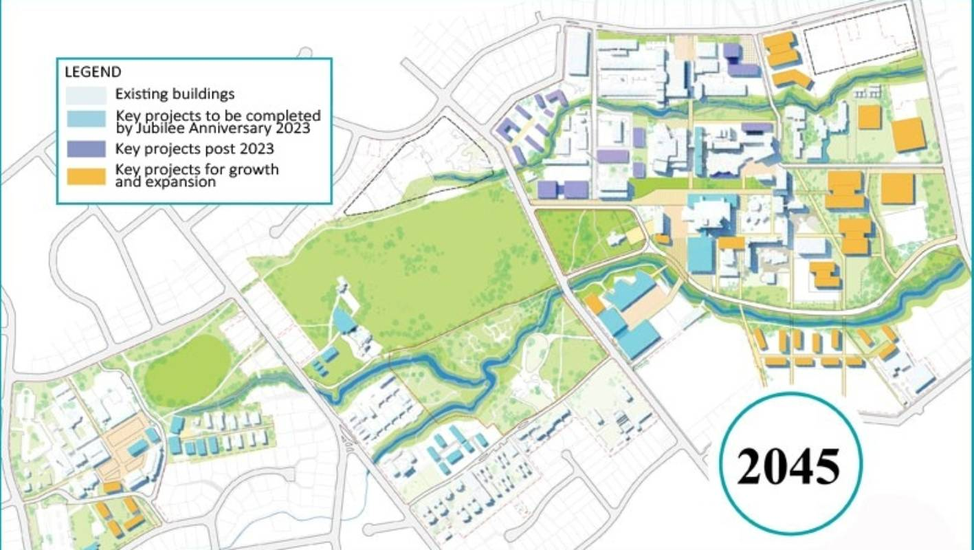 Kirkwood Community College Campus Map.University Of Canterbury S 30 Year Plan To Create Little City